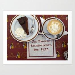 Sacher-Torte Art Print