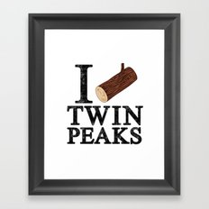 I Love Twin Peaks (Log) Framed Art Print
