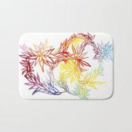 Flower Burst Color High Bath Mat