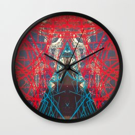 FX#505 - Kryptonian Oblongated Lines Wall Clock