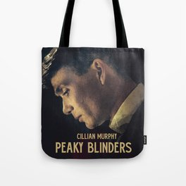 Peaky Blinders, Cillian Murphy, Thomas Shelby, BBC Tv series, gangster family Tote Bag