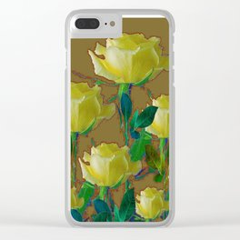 ARTISTIC YELLOW ROSE HARMONICS DRAWING Clear iPhone Case