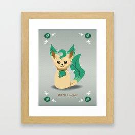 Evolution Bobbles - Leafeon Framed Art Print