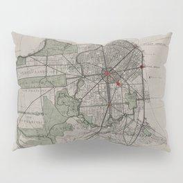 Vintage Map of San Francisco CA (1905) Pillow Sham