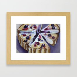 Desert, cake, food, original oil painting Framed Art Print