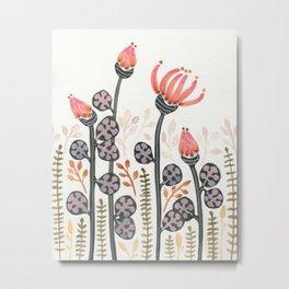 Strange Flowers Metal Print