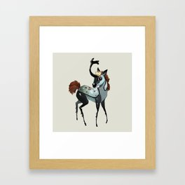 Tiny Unicorn (2 of 3) Framed Art Print