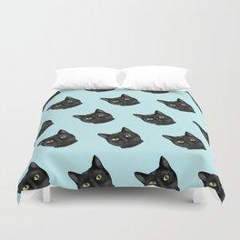 Black Cat Appreciation Day Duvet Cover