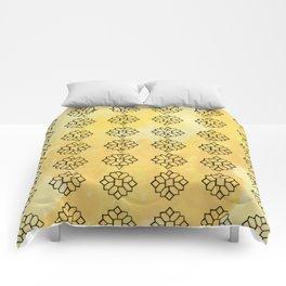 Geometrical Yellow Comforters