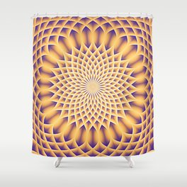 LOTUS FLOWER MANDALA salmon violet Shower Curtain