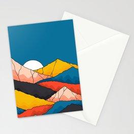 The mountainous range  Stationery Cards