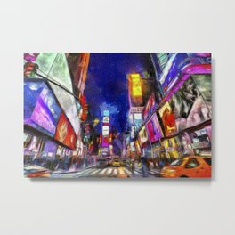 Times Square New York Art Metal Print