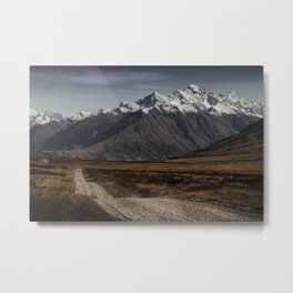 Into The Wild, Mountain Landscape Nature Photograph Metal Print