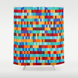 Bach Invention (Fire and Iceberg Colours) Shower Curtain