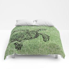 Green Turtle Comforters