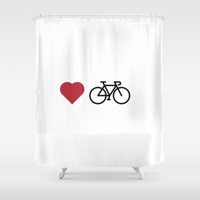 Love My Bike Shower Curtain