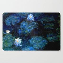 monet water lilies 1899 blue Teal Cutting Board