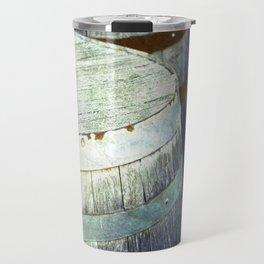 Wooden Barrels and Crates Travel Mug