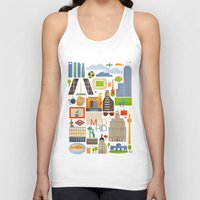 madrid Tank Tops featuring Madrid  by La Merienda
