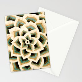 Persian Floral Pattern Low Poly Geometric Triangles  Stationery Cards