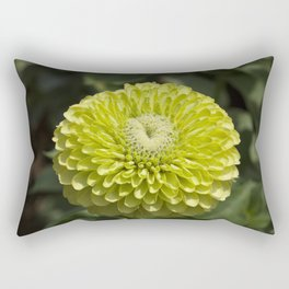 Green Dahlia Rectangular Pillow