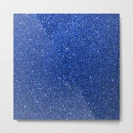 Cobalt Blue Glitter Metal Print