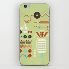 Geometric Music II iPhone Skin