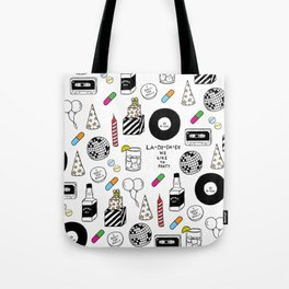 """La-Di-Da-Di"" Illustration Set Tote Bag"