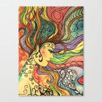 hippie Canvas Prints featuring Hippie  by Crystal Streit-Beetham