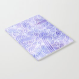 Lavender and white swirls doodles Notebook