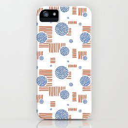 Imperfection in Red, White and Blue iPhone Case