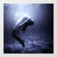 underwater Canvas Prints featuring Underwater by EclipseLio