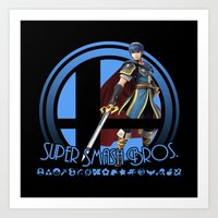 super smash bros Art Prints featuring Marth - Super Smash Bros. by Donkey Inferno
