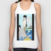 mermaids Tank Tops featuring Japanese Mermaids by Paul Bridgeman