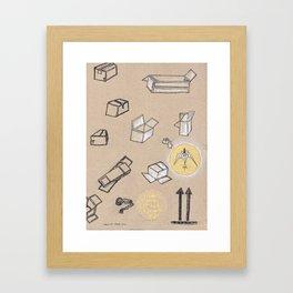 Fragile Boxes Framed Art Print