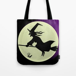 Witch and the Moon Tote Bag