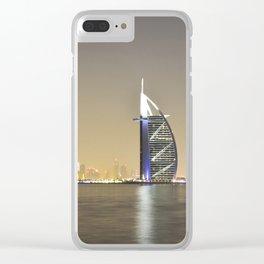 Burj Al Arab in front of Dubai Clear iPhone Case