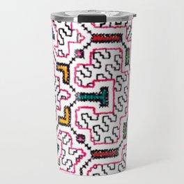 Physical Healing Icaro - Traditional Shipibo Art - Indigenous Ayahuasca Patterns Travel Mug