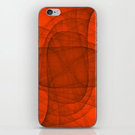Fractal Eternal Rounded Cross in Red iPhone Skin