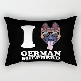 I Love German Shepherd modern v2 Rectangular Pillow