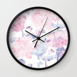 Dorothy's Roses Wall Clock