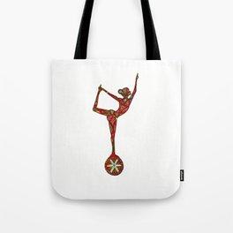 """yoga """"wheel balance"""" Tote Bag"""