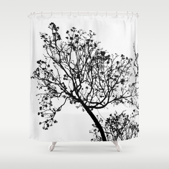 Black Tree Shower Curtain By Habish Society6