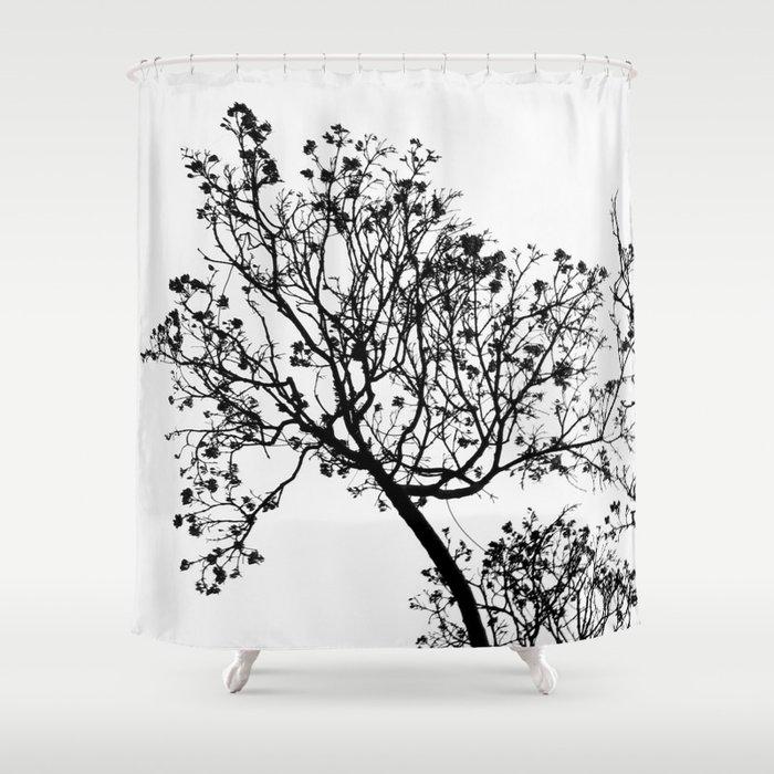 Black Tree Shower Curtain By Habish Society6