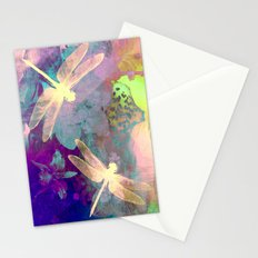 Painting Dragonflies and Orchids A Stationery Cards