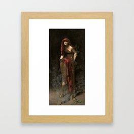John Collier - Priestess of Delphi, 1891 Framed Art Print