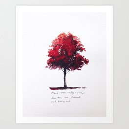 Deep, Passionate, Burning, Rich Art Print