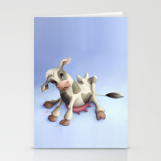 Little cow Stationery Cards