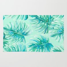 Paradise Palms Mint Rug