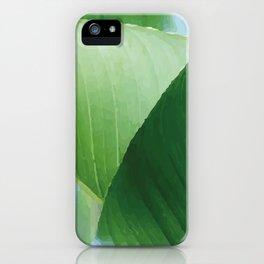 Big Banana Leaves green iPhone Case